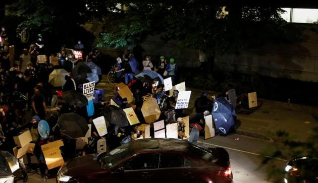 Protests in Rochester against killing of Daniel Prude.(Reuters)