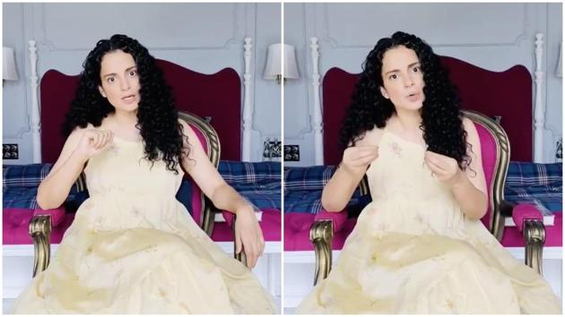 Kangana Ranaut shared a video from her Manali home.