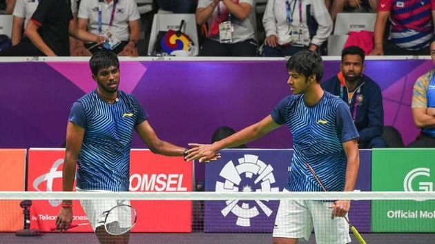 File image of Indian badminton players Satwiksairaj Rankireddy [L] and Chirag Shetty.(PTI Image)