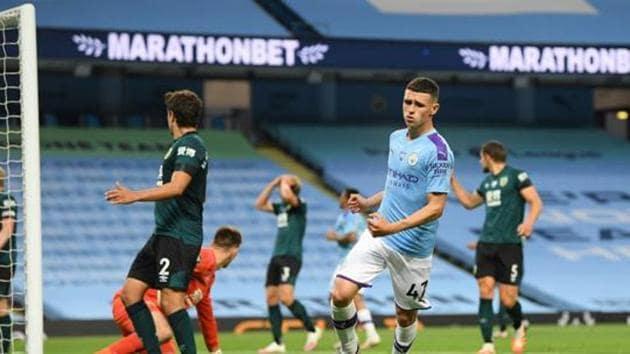 Manchester City's Phil Foden.(REUTERS)