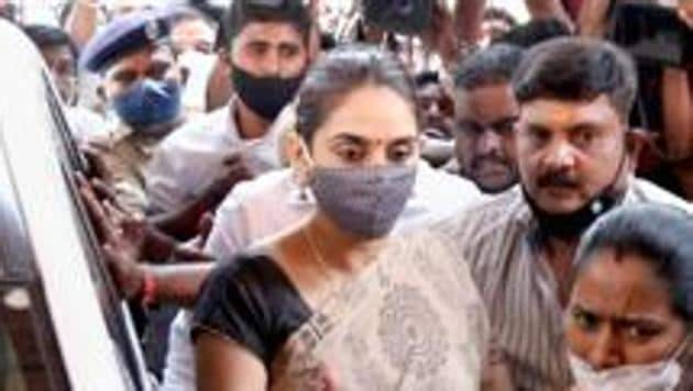 Kannada actor Ragini Dwivedi has been arrested in a drug case by the Bengaluru Central Crime Branch and is one of the 12 people named in an FIR filed at the Cottonpet police station.(PTI PHOTO.)
