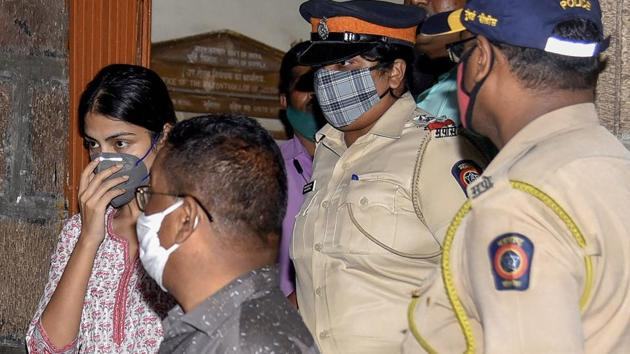 The 28-year-old would be questioned in the presence of arrested accused, including her brother Showik, Sushant Singh Rajput's house manager Samuel Miranda, his domestic help Dinesh Sawant and Zaid Vilatra.(PTI)