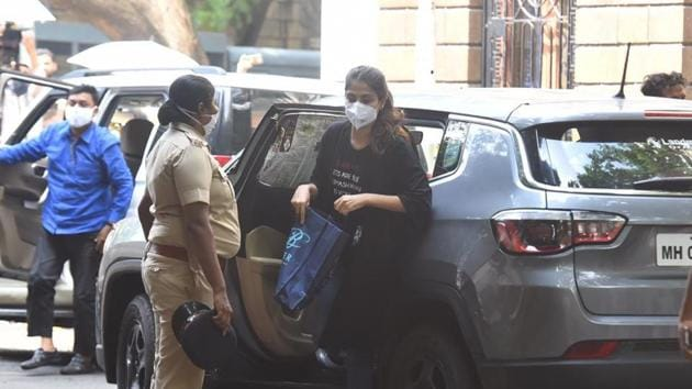 Rhea Chakraborty was questioned for the third day by NCB.(Varinder Chawla)