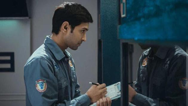 Cargo movie review: Vikrant Massey in a still from Arati Kadav's sci-fi film.