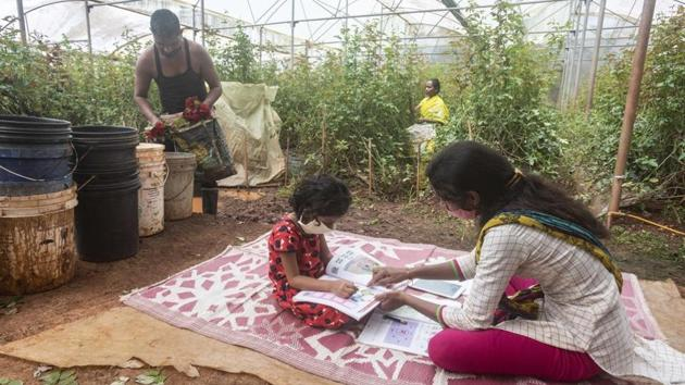 The report underlines the huge difference in the literacy rate of men and women in UP.(Pratham Gokhale/HT Photo)