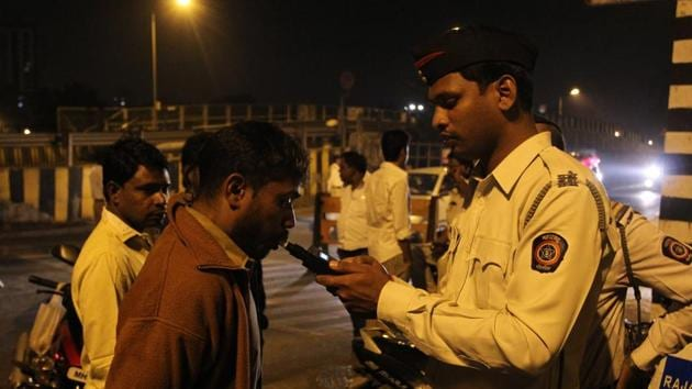 According to the data available with the traffic branch, as many as 752 drink driving cases have been lodged across different divisions between January and March this year.(HT file photo. Representative image)