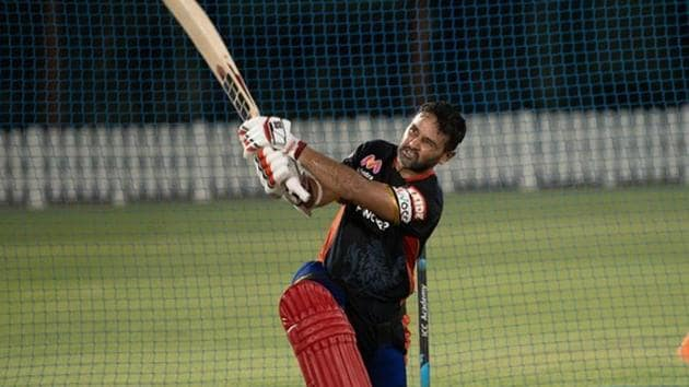 Parthiv Patel during a training session ahead of IPL 2020(RCB/tiwtter)