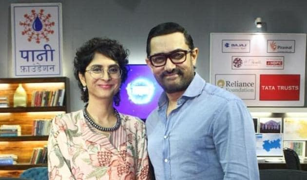 Aamir Khan and Kiran Rao set up the Paani Foundation with the core team of the TV show Satyamev Jayate.