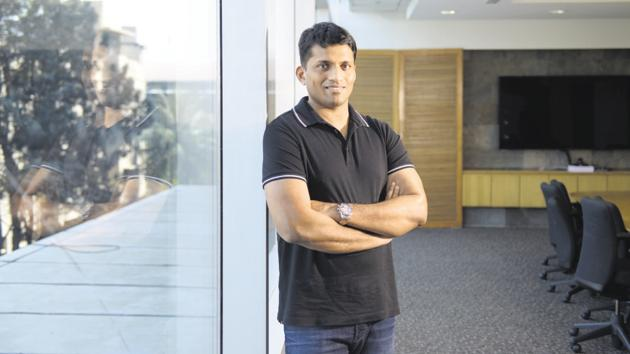 Byju Raveendran, founder & CEO of Byju's, an online Education Technology firm.(Mint)