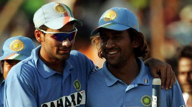 Mohammad Kaif and MS Dhoni(Twitter)