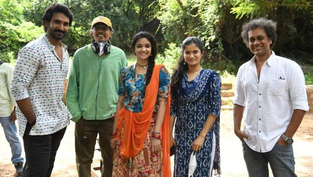 Keerthy Suresh on sets of Good Luck Sakhi.