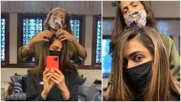 Deepika Padukone's new look.