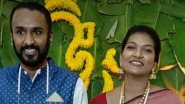 Keerthi Jalli, deputy commissioner of Cachar district in Barak Valley region, got married to Aditya Sashikant, a businessman.(Sourced)