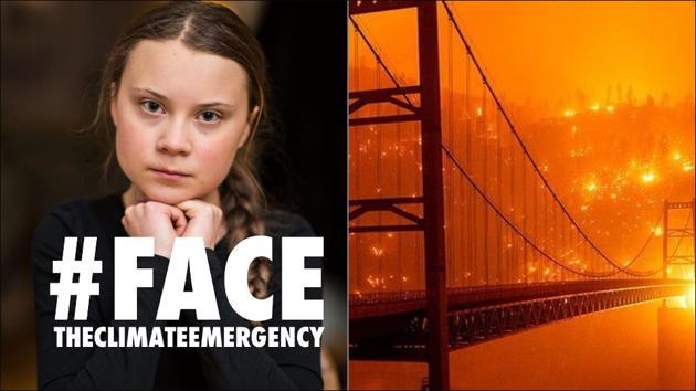 Greta Thunberg calls for action on wildfires raging across the US West Coast(Instagram/gretathunberg)