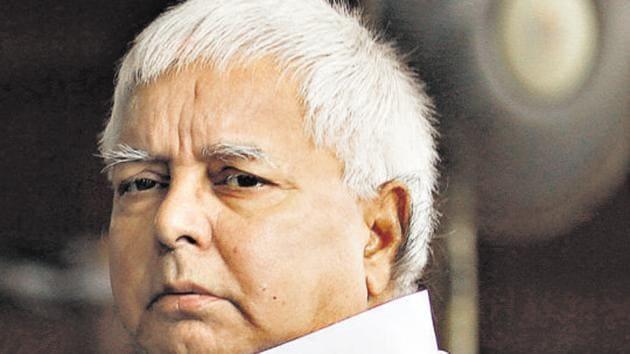 RJD chief Lalu Prasad Yadav wrote to senior party leader Raghuvansh Prasad Singh who has quit the party.(HT file)