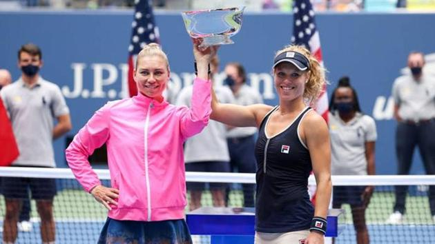 The rules of tennis during the coronavirus pandemic were the only thing Zvonareva and Siegemund couldn't figure out in their first tournament together.(Getty Images)