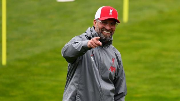 Jurgen Klopp, manager of Liverpool during a training session at Melwood Training Ground.(Getty Images)