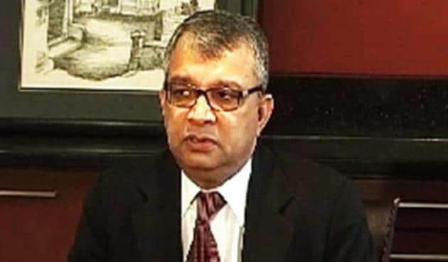 Actor Rhea Chakraborty's lawyer, Satish Maneshinde, is seen in this file photo. The senior lawyer said on Saturday he does not have any account on Twitter.(HT File Photo)