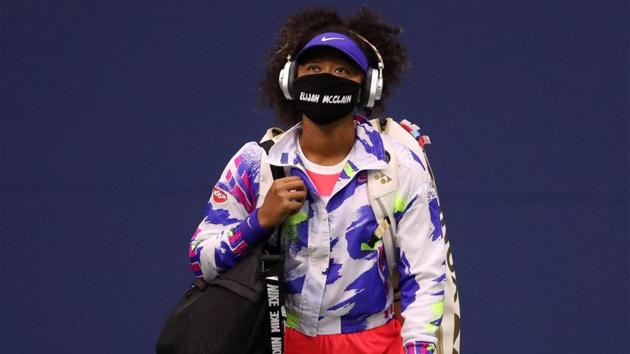 U.S. Open champion Naomi Osaka wore a different face mask for each of her matches at Flushing Meadows this year. They each carried the name of a Black American and aimed to highlight racial injustice in the United States to a wider audience. (Getty)