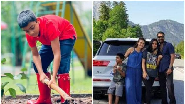 Ajay Devgn and Kajol wished their son Yug on his birthday.