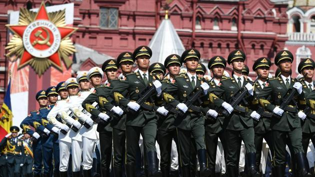 China blasted a critical US report on the country's military ambitions.(via REUTERS)