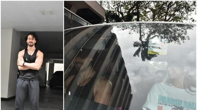 Tiger Shroff and Disha Patani in Mumbai.(Varinder Chawla)