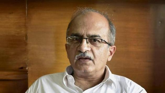 File photo: Senior advocate Prashant Bhushan.(PTI)