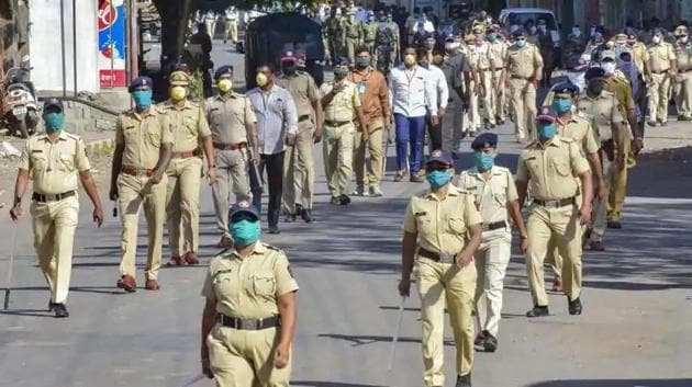 As per the details shared by Vinayak Deshmukh, assistant inspector general of police (Law and Order), total cases of Covid-19 infection in the state police force is now at 19,756. (PTI Photo)