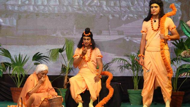 This year's Ramleela in Ayodhya will be telecast on Doordarshan apart from other platforms.(HT Photo)