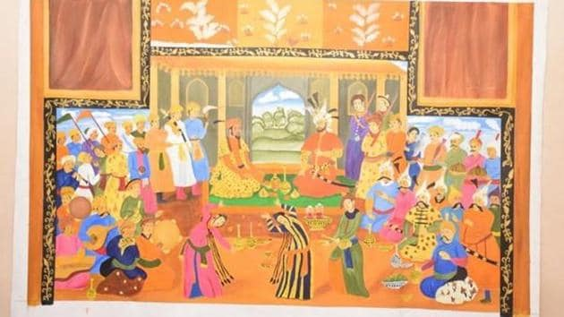 One of the paintings made by Syeda Ashna Turabi.(ANI)