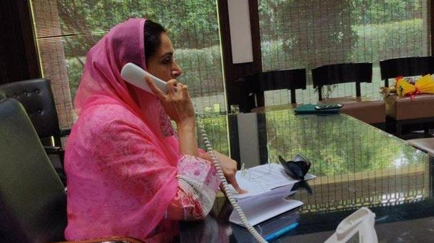 "The SAD had been requesting the Centre not to go ahead with the three agriculture-related bills for approval of Parliament ""until all reservations expressed by farmers' organisations, farmers and farm labourers"" are addressed. (Photo @HarsimratBadal)"