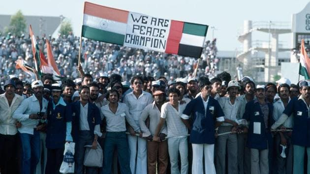 One exhibition match changed the landscape of what would go on to become the Sharjah Cricket Ground.(Getty Images)