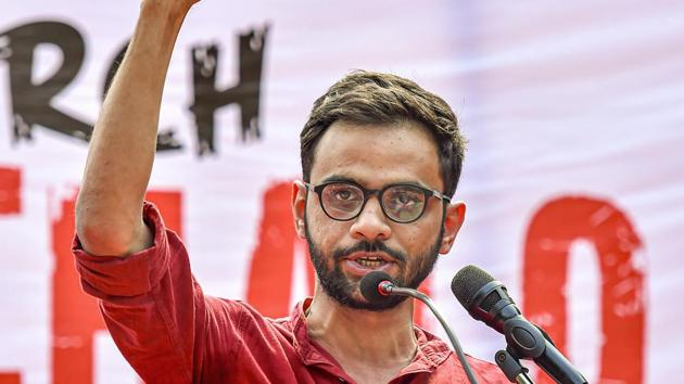 Delhi Police had claimed that Khalid, along with some other prominent anti-CAA protesters, had used the protest sites to plan and orchestrate the riots.(PTI file photo)