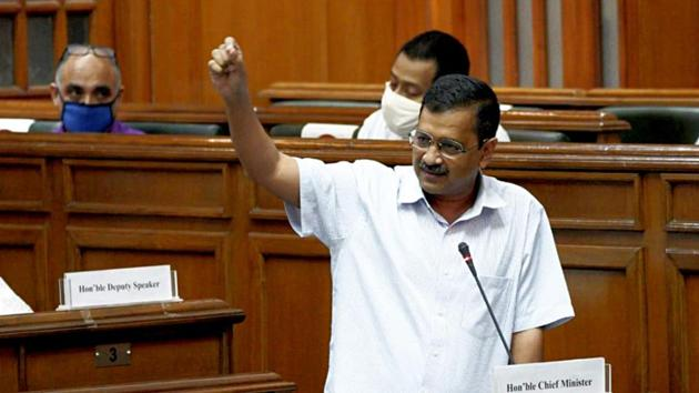Delhi chief minister Arvind Kejriwal is also AAP's national convenor.(ANI)