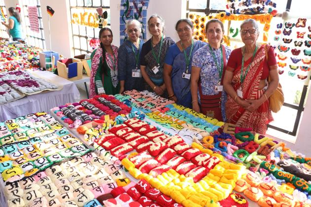 Whether it's sculptures or Christmas ornaments, record-breaking blankets or scarves, all that Mother India's Crochet Queens members create is eventually donated to charity.(MICQ)