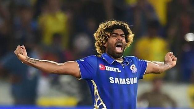 Mumbai Indians (MI) bowler Lasith Malinga celebrating after win over Chennai Super Kings (CSK) at the Indian Premier League 2019.(PTI)