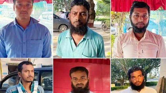 On Monday evening officials of the central agency flew to Delhi with the six accused, who were arrested from West Bengal's Murshidabad district on Saturday.(ANI PHOTO.)