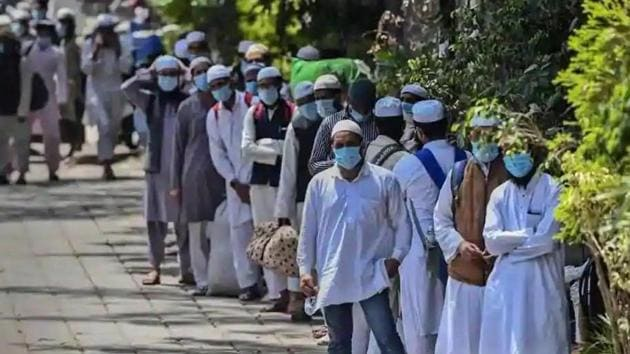 The ministry also said that as many 2,361 persons of Tablighi Jamaat were evacuated by the Delhi Police on March 29 and 233 persons were arrested. (HT Photo)