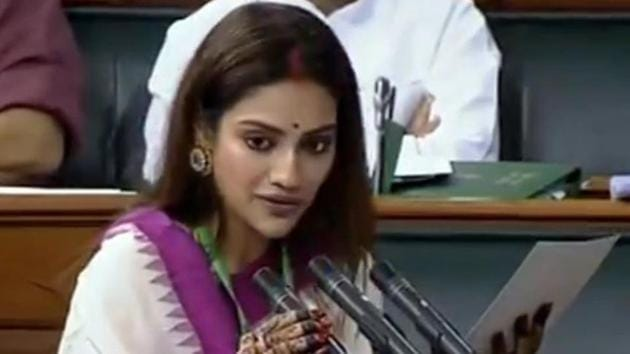 Trinamool Congress MP Nusrat Jahan Ruhi lodged a complaint with the Kolkata Police after her photo was used in a dating app without her consent.(ANI PHOTO.)