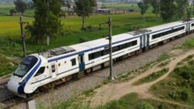 Vande Bharat is a semi-high speed train that was launched on February 15, 2019.(HT FILE PHOTO)