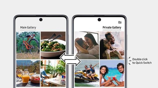 Samsung has introduced a ground-breaking innovation called Quick Switch, which allows you to switch from a private to a main gallery on your phone in a matter of seconds.(Samsung)