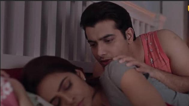 Madhurima and Ssharad in a still from Pasta trailer.