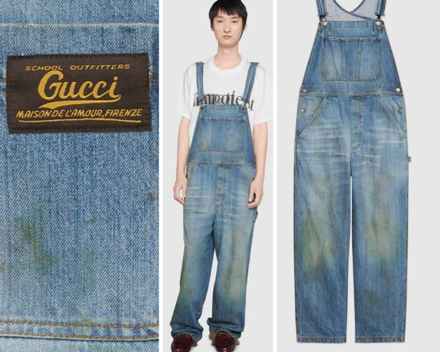 The $1400 overalls from Gucci's latest collection.(Gucci)