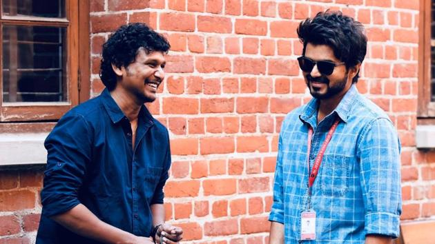 Lokesh Kanagaraj and Vijay on sets of Master.