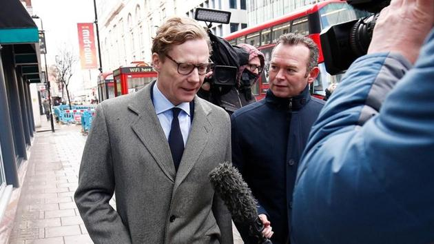 Alexander Nix, CEO of Cambridge Analytica arrives at the offices of Cambridge Analytica in central London on March 20, 2018.(Reuters file)