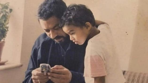 Irrfan Khan with son Babil in throwback photo.