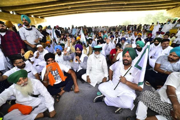 Farmers in Punjab have been at the forefront of the protests against the farm reform bills passed by the Centre.(HT Photo/Gurpreet Singh)