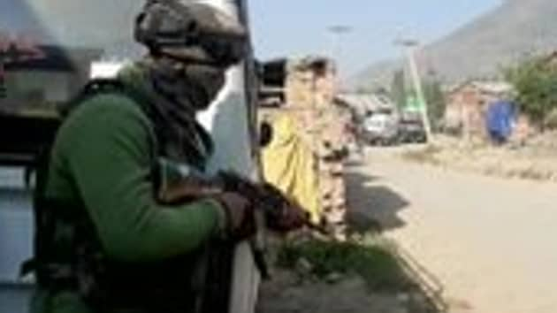 """""""A tight cordon was maintained throughout the night to stop the militants from escaping,"""" police said.(ANI Twitter)"""