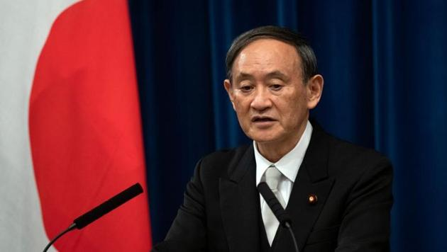 Yoshihide Suga speaks during a news conference following his confirmation as Prime Minister of Japan in Tokyo, Japan September 16, 2020 (Carl Court/Pool via REUTERS/File photo)