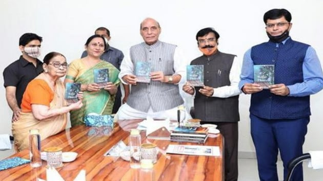 """""""A bouquet of flowers"""", the ninth book authored by the senior English Professor, was launched at the New Delhi residence of Singh.(ANI)"""